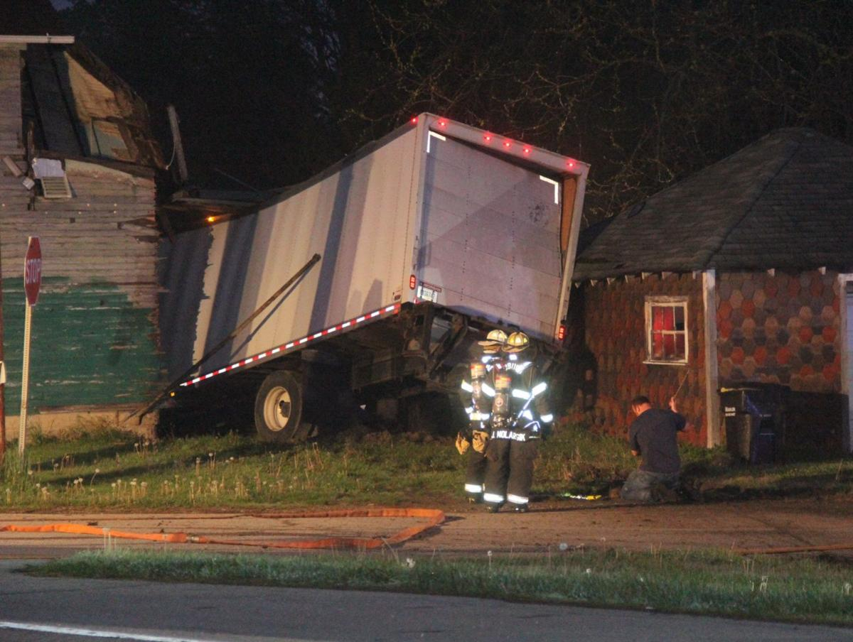 Truck crashes into Waterloo house