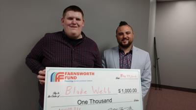 Blake Webb, 100th Farnsworth Fund founder, Anton King, executive director DCEDP