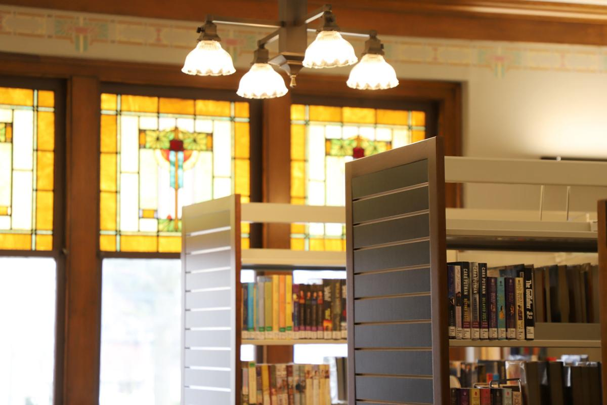 Library shelving and stencils
