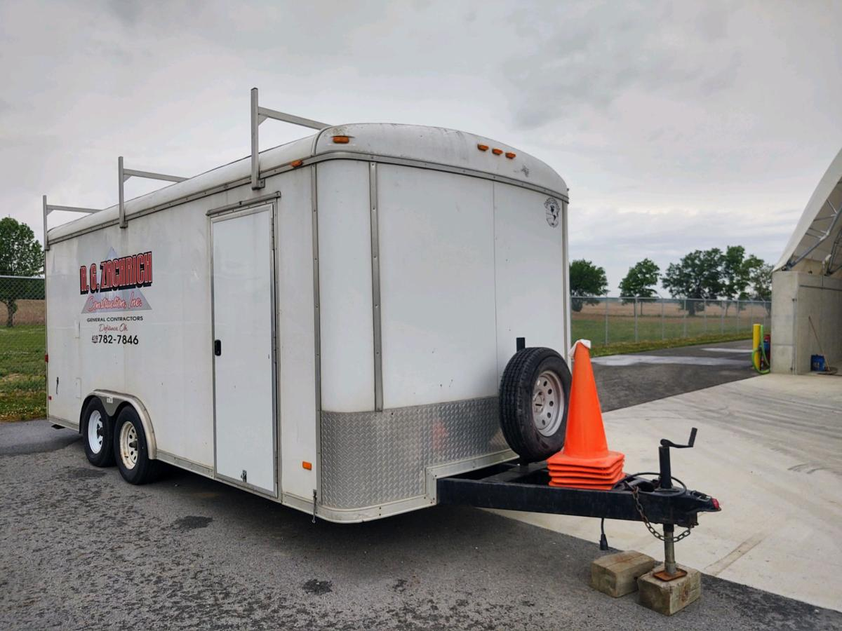 stolen R.G. Zachrich Construction Inc. trailer