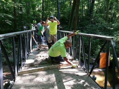 Scouts replace bridge
