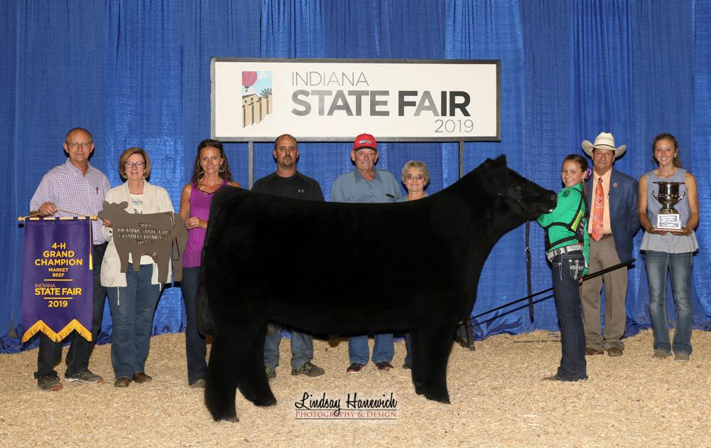 Henney takes top honor at Indiana State Fair beef show