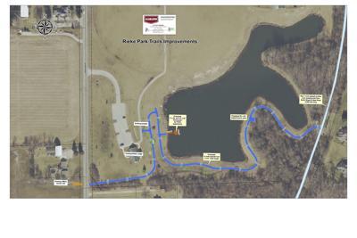 Rieke Park Trail map