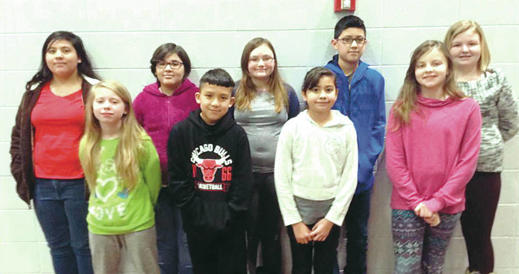 West Noble Middle School February students of the month