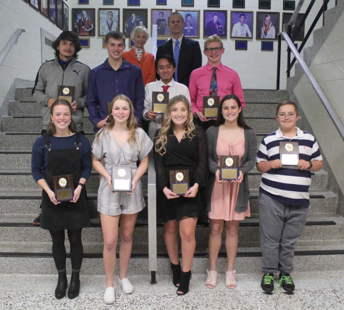 EN Fall Sports Sportsmanship Award Recipients
