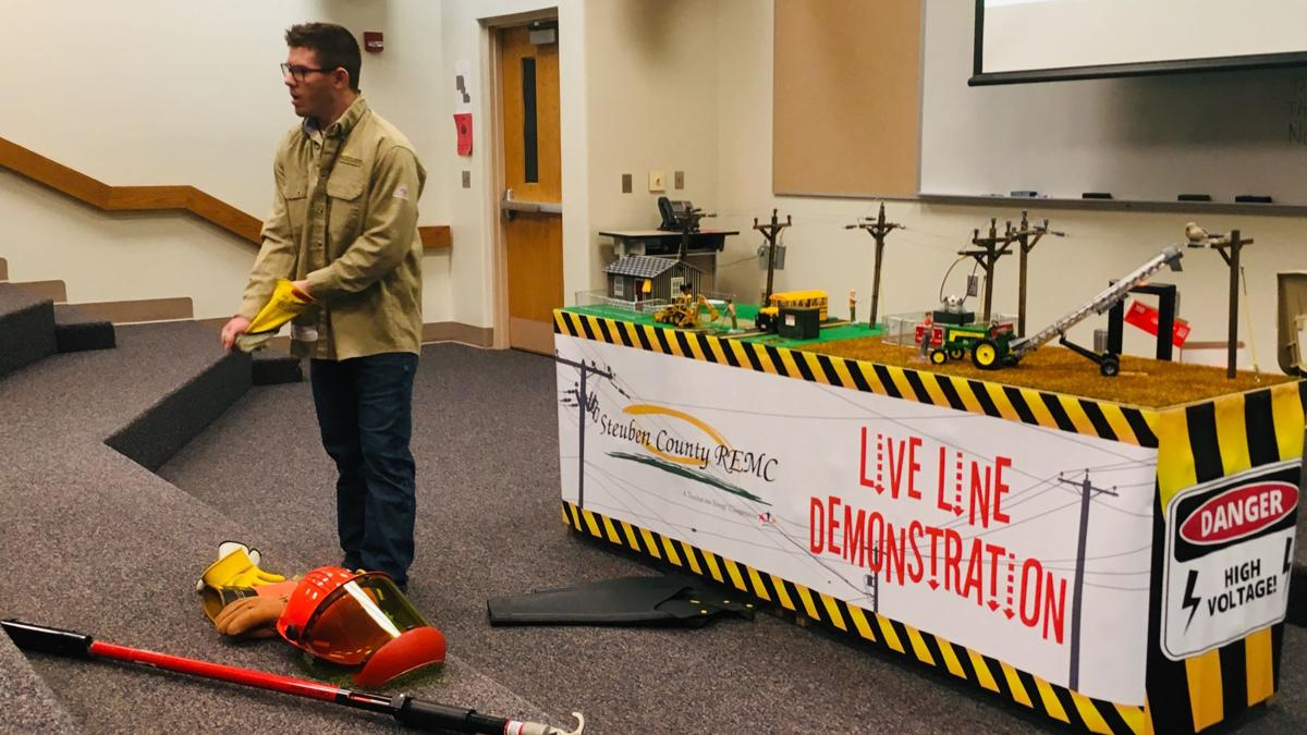 Students get electrical safety demonstration