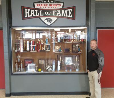 Prairie Heights Hall of Fame display
