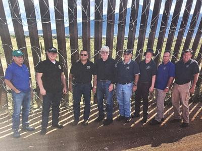 Sheriff Campos visits the border