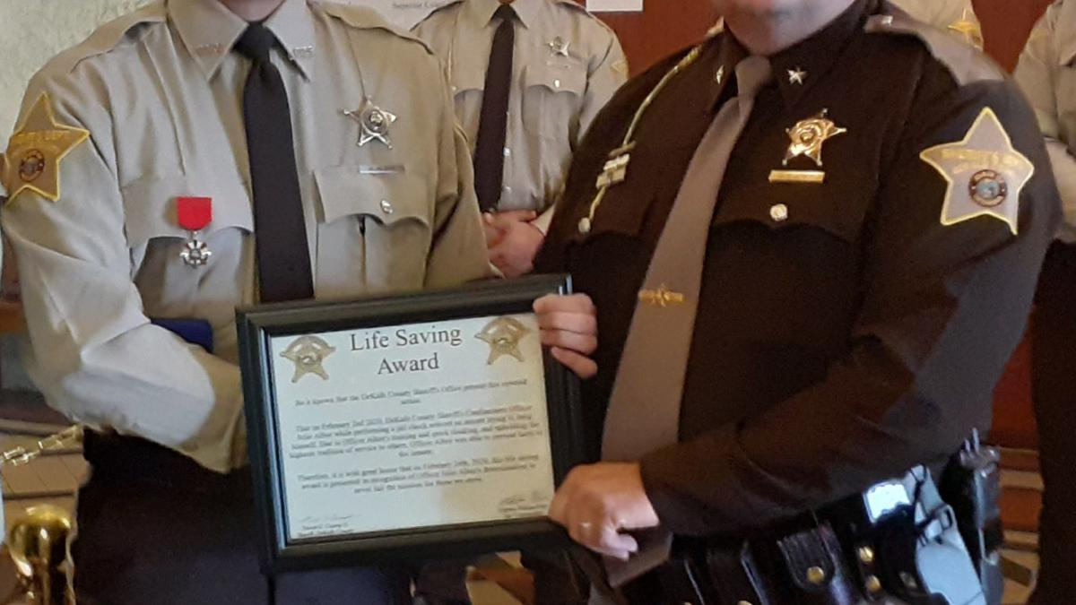 Jail officer honored for preventing suicide