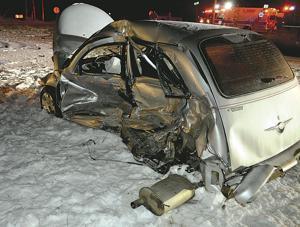 S.R. 1 crash injures two