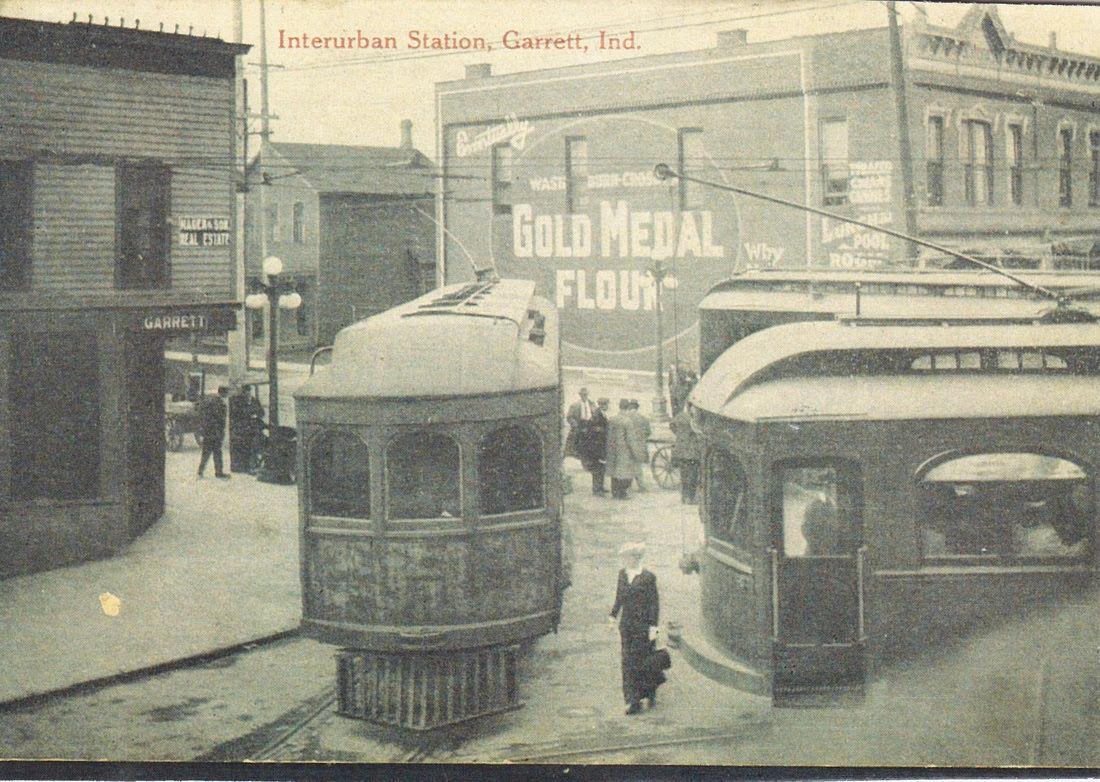Postcard of Garrett interurban