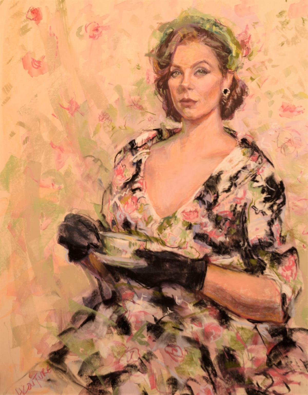 Pastel portrait by Hilarie Couture