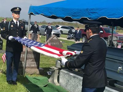 Honor Guard folding flag