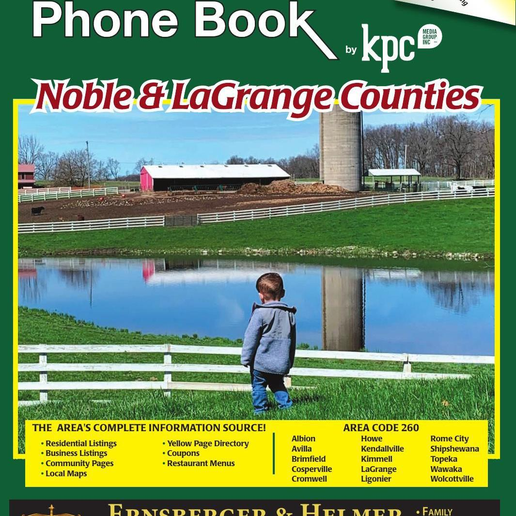 2019-2020 The Phone Book Noble and LaGrange counties