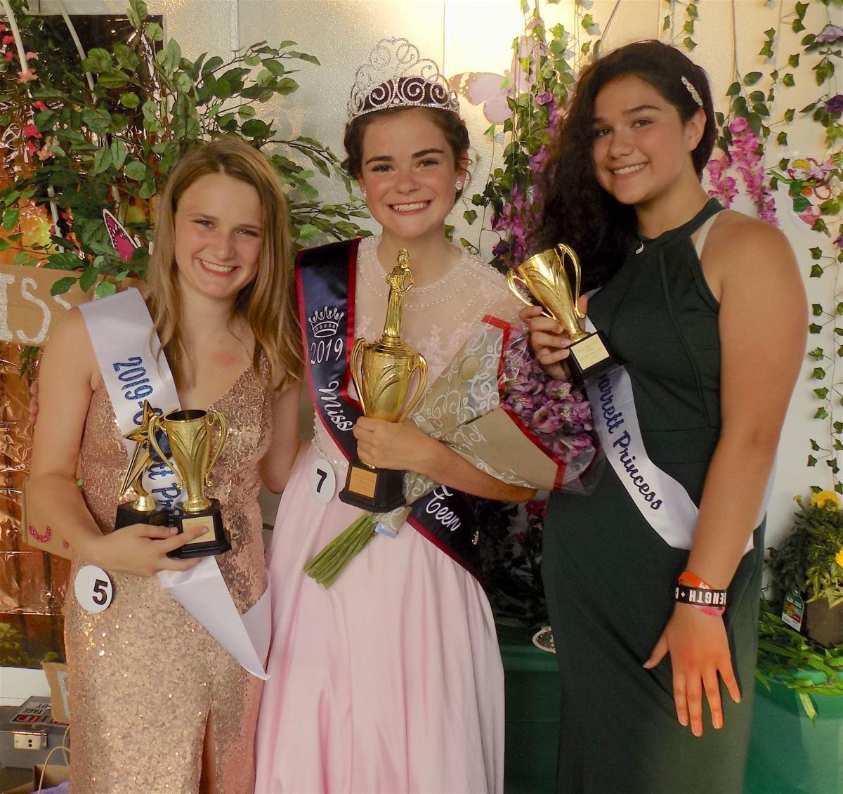 Miss Garrett Teen finalists