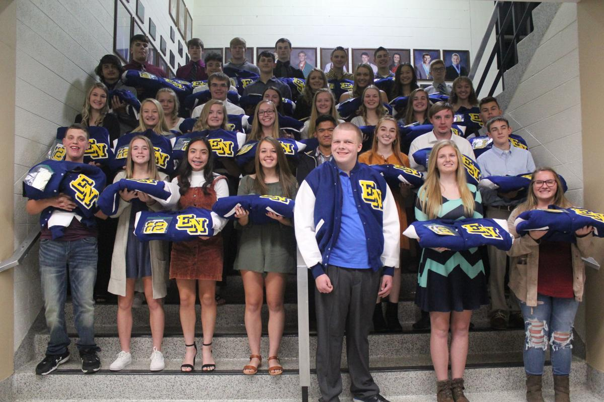 East Noble's fall letter jacket recipients