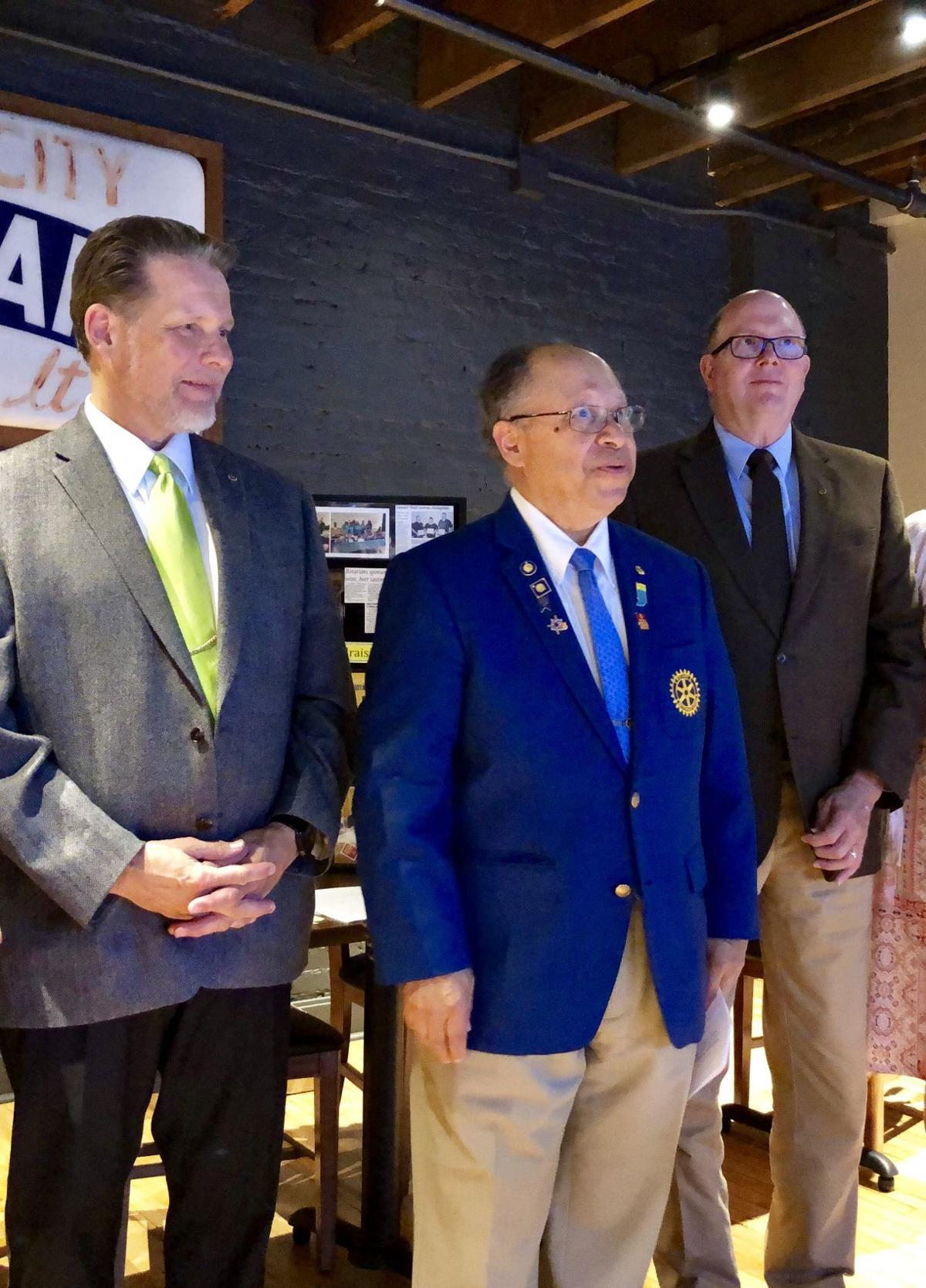 New Auburn Rotary members