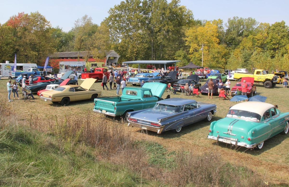 Classics gather at Spencerville Covered Bridge