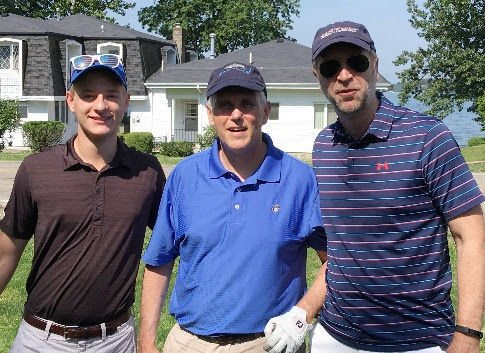 Pence with golfers