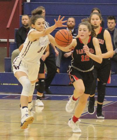 Battling for the basketball