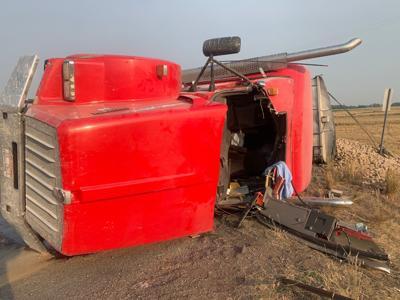 Tipped Potato Truck