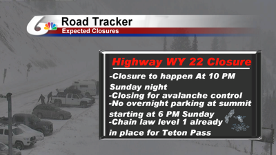Planned Road Closure On WY HWY 22