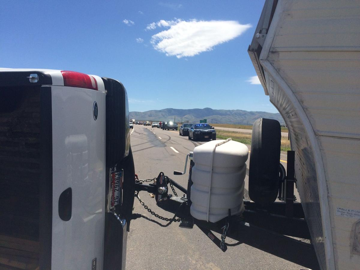 Accident blocks northbound lanes on I-15 south of Fort Hall