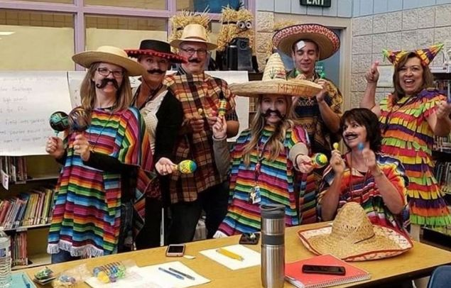 "Teachers dressed as ""Mexicans"""
