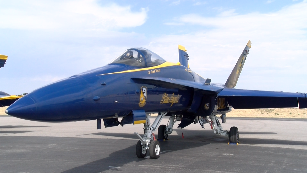 The Blue Angels prepare for Air Show in Idaho Falls