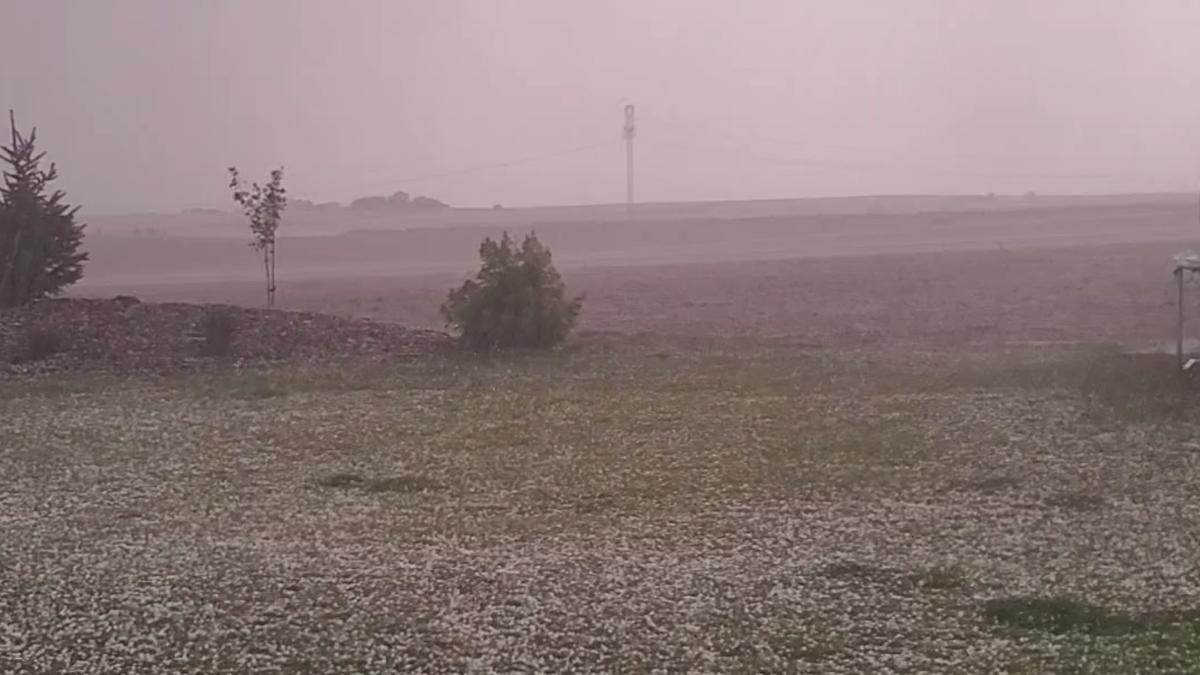 Brittany Jensen - Soda Springs hailstorm