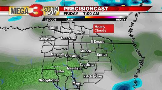 7 AM Friday Forecast