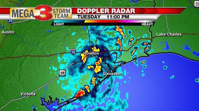 Radar Image of Imelda over Houston