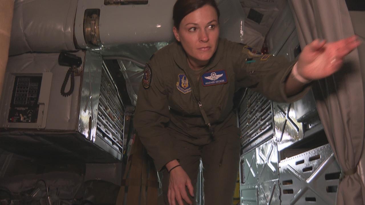 Decker inside the B-52