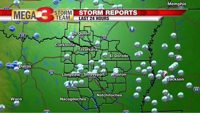 Storm Damage from Yesterday (Shreveport National Weather Service)
