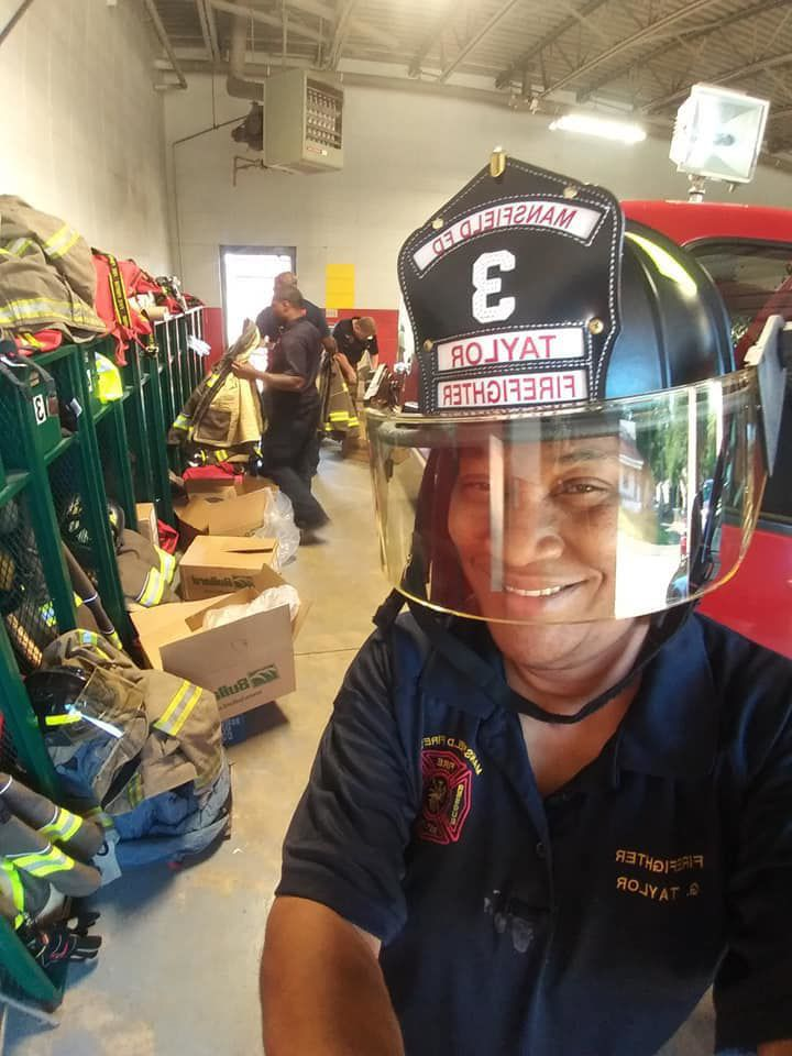Mansfield firefighter Gwen Taylor