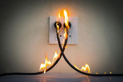 electric wire fire