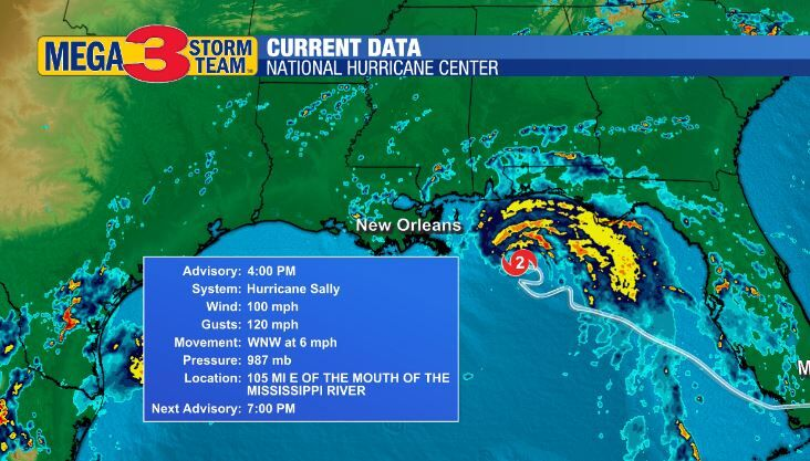 Hurricane Sally Currents from the National Hurricane Center
