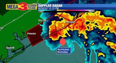 Radar Image of Hurricane Nicholas