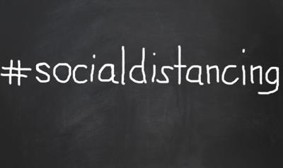 social distancing image