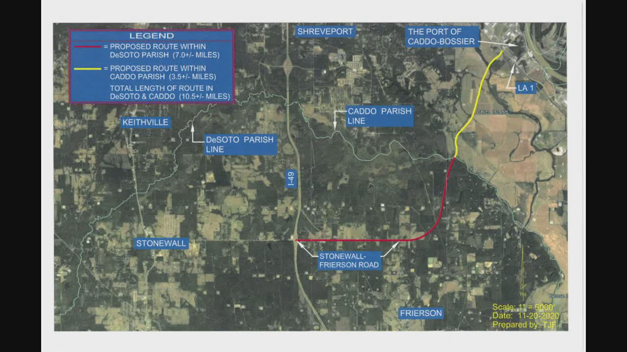 I-69 service road map