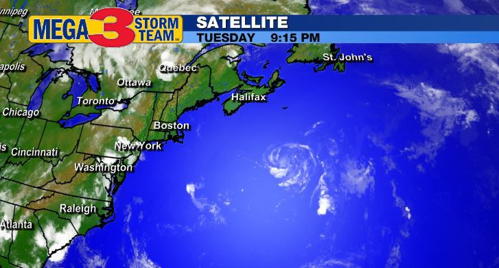 Satellite Image of Tropical Storm Dolly in the North Atlantic