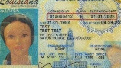 Louisiana drivers license