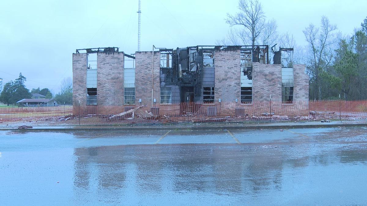 Apollo Apartments - still smoldering