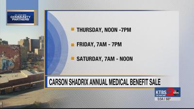 Carson Shadrix Annual Medical Benefit Sale