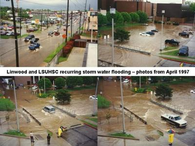 Linwood and LSUHSC flooding April 1997