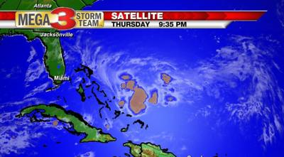 Satellite Image of Potential Tropical Cyclone Nine