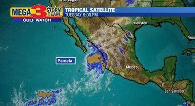 Satellite Image of Tropical Storm Pamela