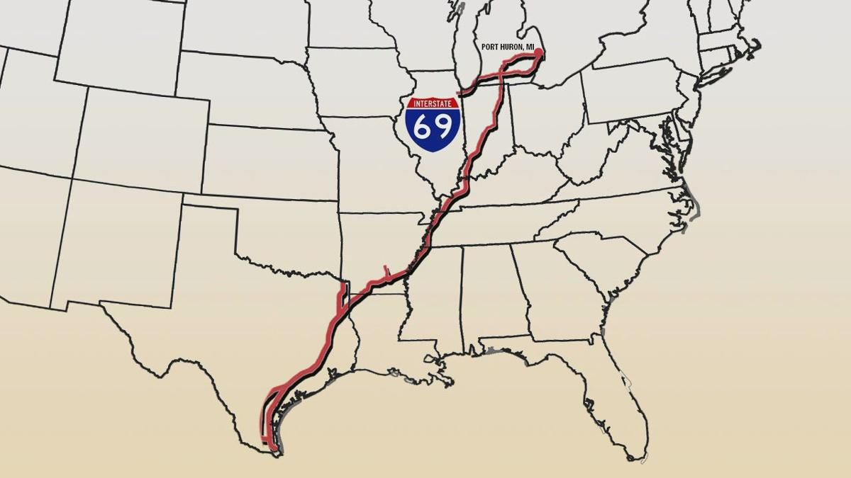 I-69 map