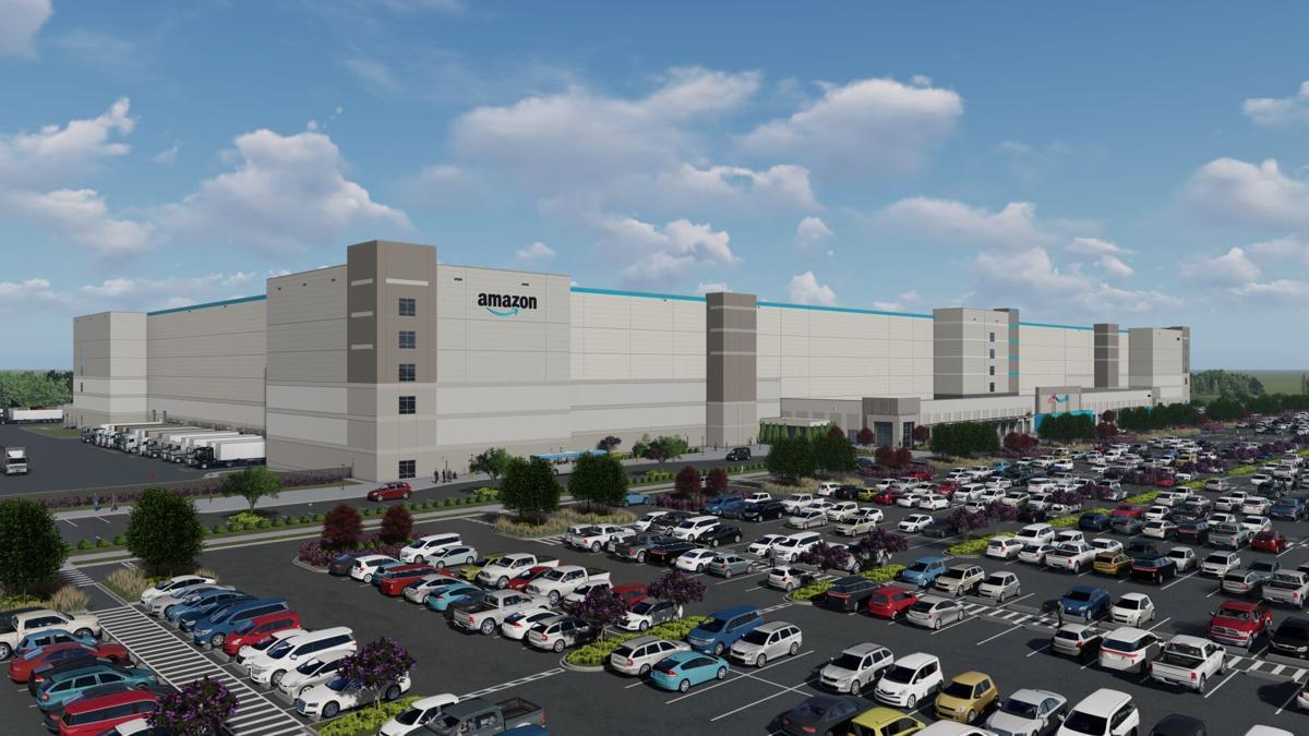 Amazon fulfillment center rendering