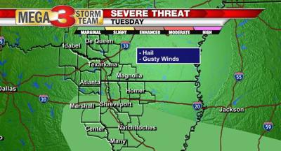 Marginal Risk of Severe Weather for Tuesday Afternoon and Evening